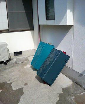 底砂洗浄用のアウトドアボックス
